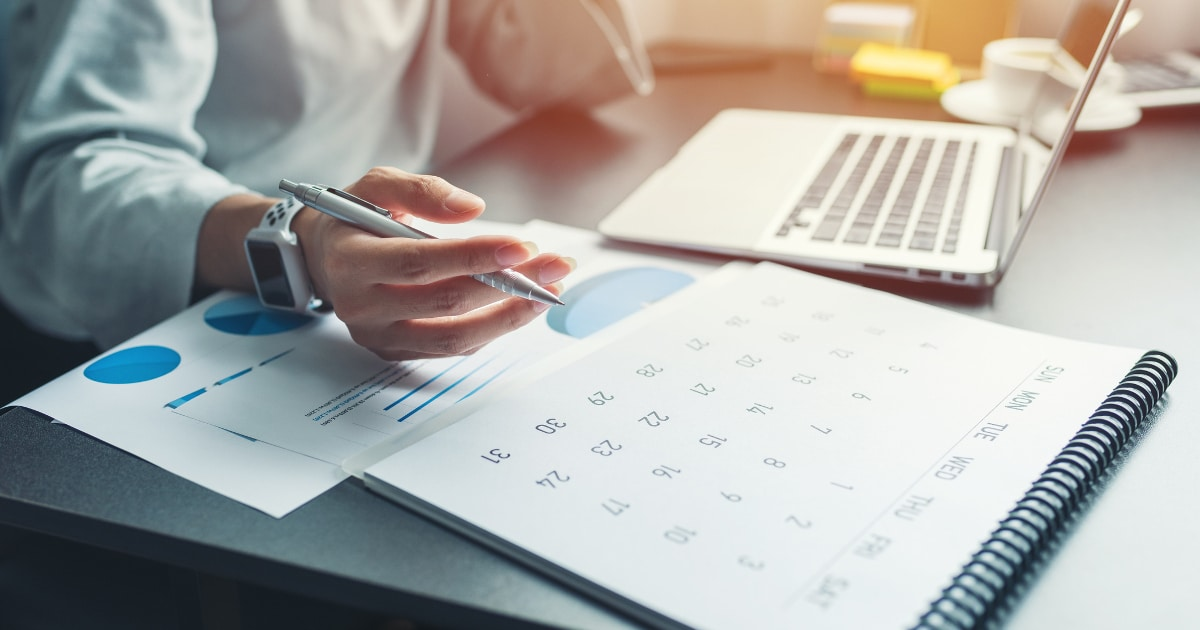 Investor Planning Their Trading Calendar